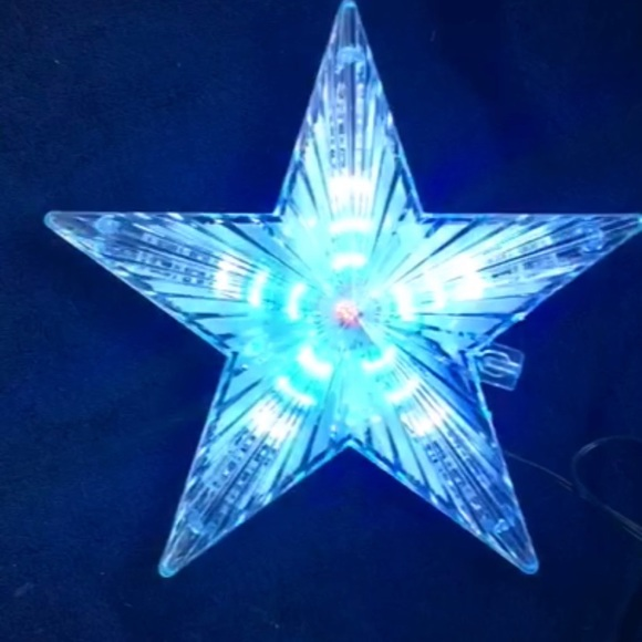 Beautiful LED Christmas tree star topper